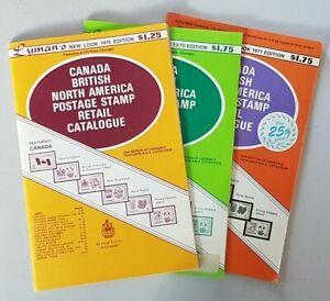 Vintage Lot of Lyman's Postage Stamp Retail Catalogues 1975 1976 1977