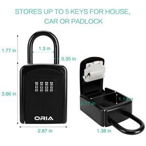 Padlock 4&Digit Combination Key Lock Box Safe_Security Storage @ Case Organizer
