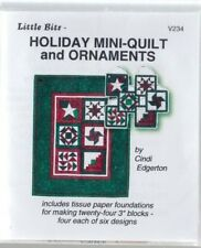 Holiday Mini Quilt & Ornaments - Christmas foundation pieced wall quilt PATTERN