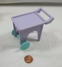 PLAYSKOOL Dollhouse PURPLE TEA SERVING CART for FRONT PORCH Outdoor Furniture