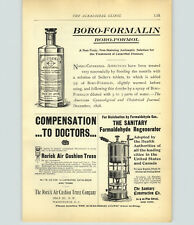 1899 PAPER AD Vintage Medical Devise The Sanitary Formaldehyde Gas Regenerator