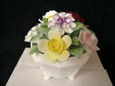 ROYAL DOULTON ROSE BOWL CESTO Hand Made / DIPINTO FIORI IN INGLESE BONE CHINA