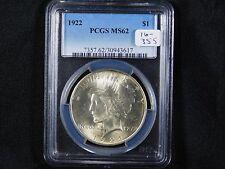 1922 Peace Dollar - PCGS MS 62  (16-355)