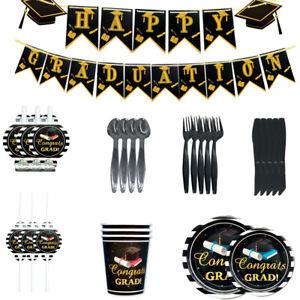 Student Graduation Theme Party Suit Balloon Disposable Tableware Banner Decor R
