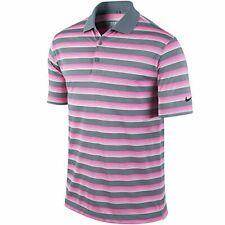 Nike Tech Vent Stripe Golf Polo 2015 Dove Grey/Pink Pow/Anthracite Small