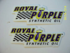 "ORIGINAL RACING  DECALS  ""  2  ROYAL  PURPLE  SYNTHETIC OIL ""  7"" x 2.5"""