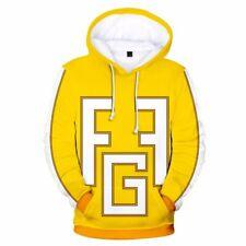 My Hero Academia Hoodie Cosplay Yellow 3D Print Zipper Fatgum Pullover Jacket