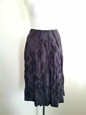 Effortless Style! Veronika Maine size 6 black/grey cotton & silk blend skirt