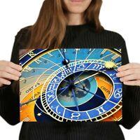 A4 - Prague Astronomical Clock Old Town Poster 29.7X21cm280gsm #16250