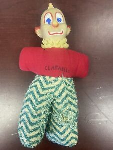1950's Howdy Doody Clarabell the Clown Stuffed Doll with Rubber Puppet Head