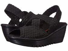 0c7be3ea4cc Women s Shoes Bernie Mev. Brighten Casual Woven Open Toe Wedge Black ...