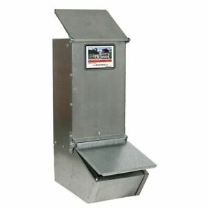 Brower Single Hole Hog Feeder Pig Feeders HOLDS 75 LBS -  20 Gauge MADE IN USA!!