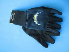 NWT Sport Utility Men's Gloves NFL LA CHARGERS Football . 1st Class Shipping
