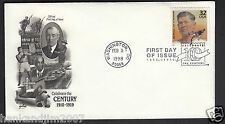 Celebrate the Century 1910s Usps 1998 First Day Cover & Jim Thorpe Stamp