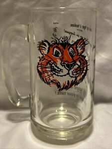 Put A Tiger In Your Tank Tall Glass Handle Mug Esso Exxon Vtg Several Languages