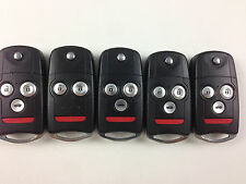 LOT OF 5 ACURA 09-14 ZDX TL TSX FLIP KEY LESS ENTRY REMOTE OEM SWITCHBLADE FOB