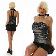 SEXY corsetto bustino grigio ROSELLINE paillettes con stecche TG SMALL GLAMOUR