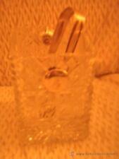 CUBITERA  .HIELO EN PLATA Y CRISTAL TALLADO - 14 X 10 X 10 CMS CUBITERA silver