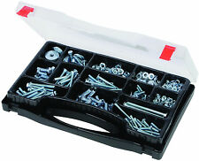 580pc Machine & Set de Vis Pack. Nuts & Bolts assortiment, rondelles de printemps, + étui