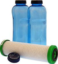 Carbonit NFP Premium Filtre et 2 x 1 Litre Bouteille pour Soif sur la route