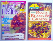 LOT OF TWO 1995'S RECIPES MAGAZINE & BOOK, FAST & HEALTLY, PASTA BEANS & GRAINS