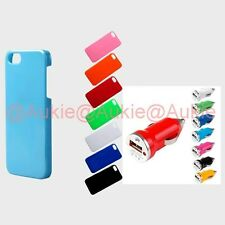 ONE Slim & Thin Solid Colored iPhone5S Case + ONE Turbo USB Car Charger