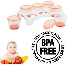 Baby Food Ollas Congelador Destete cubos de almacenamiento extraíble Bandeja vital