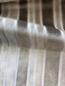 Velluto Pergamo Beige Mocha Velvet Stripe Upholstery Fabric IL7
