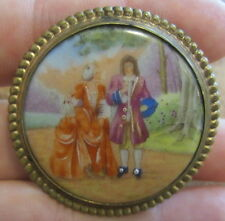 Vecchia spilla - broche - broach - nadel - ceramica Limoges