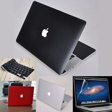 Carbon Fiber 3D Sticker Skin Cover Protector for Apple MacBook Air Pro 13 15 17