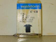 HO TRAIN HARDWARE- WALDOM- KF-470- ROUND HEAD STEEL MACHINE SCREWS- NEW- H50