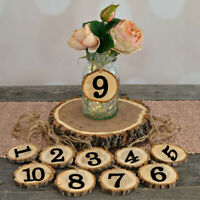 Rustic Wooden Hanging Ornament Wedding Table Home Decoration 1-10 Numbers