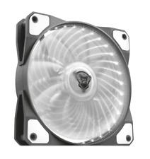 Ventola 12V 120x120 mm Case PC Illuminazione LED biano Nero Trust 22346 GXT-762W
