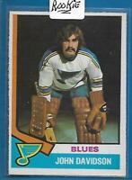 *ST-LOUIS*1974-75 O-Pee-Chee #11**JOHN DAVIDSON** Blues Rookie NM-MT CONDITION!!