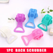 Exfoliating soft silicone back washer shower towel body clean double-sided