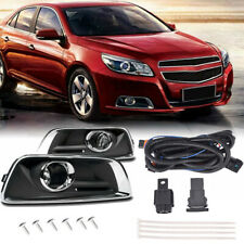 For 2013-2015 Chevy Malibu Clear Front Bumper Fog Lights Lamps+Switch+Wiring Kit