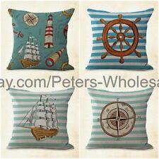 US SELLER- 4pcs patio furniture cushions cushion covers travel anchor nautical