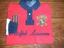 Polo Ralph Lauren Red Big Crest Snow Challenge Color Block Rugby Shirt Medium