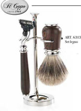 Shaving set razor and brush wenge