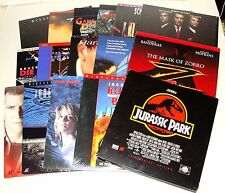 LOT OF 17+ LASERDISC MOVIES IN ORIG SLEEVES - TERMINATOR JURASSIC PARK BRUCE LEE