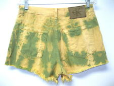 VTG 80s Calvin Klein USA RARE Tie Dye Frayed Hem Cut Off Denim Shorts size 7 30""