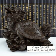 3 KG Tibet Pure Purple Copper Dragon Turtle Buddhism Furnishing Articles #A30