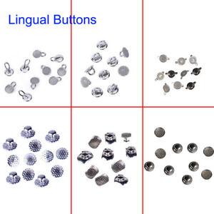 8 Mode Dental Orthodontic Lingual Buttons Bondable Round Mesh Base 10pcs/bag