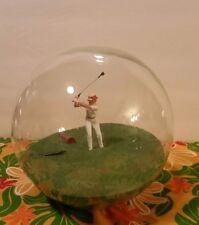 "■Huge■ 8"" Beach Ball Sanstar© Woman Golfing In The Sand Clear Glass Globe Ball"
