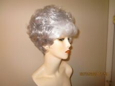 ELIM Short Tapered Gray/White Color Wig
