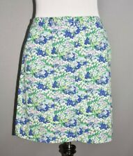 TALBOTS $79 Floral Stretch Cotton Pencil Skirt w/ Pockets Size 12