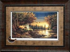 Terry Redlin Evening Solitude Print Framed with Cameo