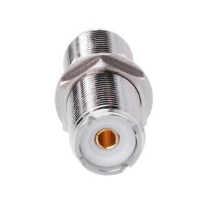 UHF SO239 Female To Female Jack Nut Bulkhead Adapter Panel Mount Connector