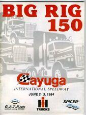 Program BIG RIG 150 CAYUGA INTERNATIONAL SPEEDWAY 1984 Ontario Canada Trucks