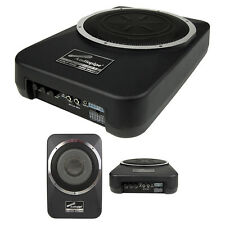 "Audiopipe APLP800 Amplified 8"" Active Enclosed Low Profile Subwoofer System"